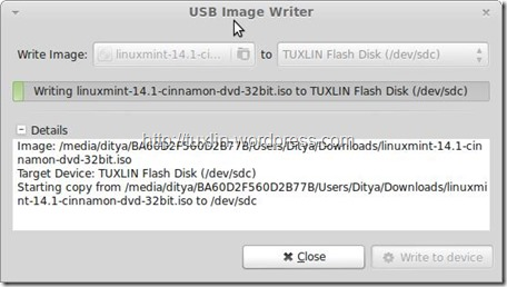 Screenshot-USB Image Writer