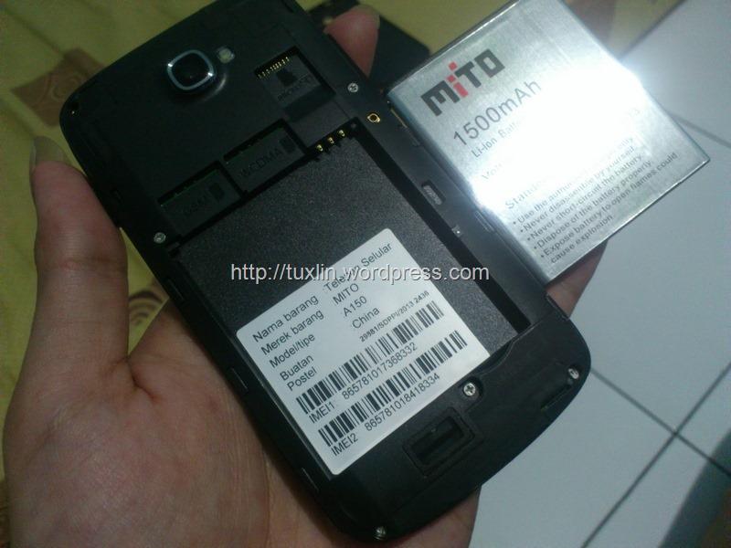Mito Fantasy Pocket ini menggunakan mini SIM alias SIM card standar ...