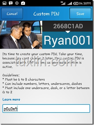 Custom PIN BBM Tuxlin Blog06