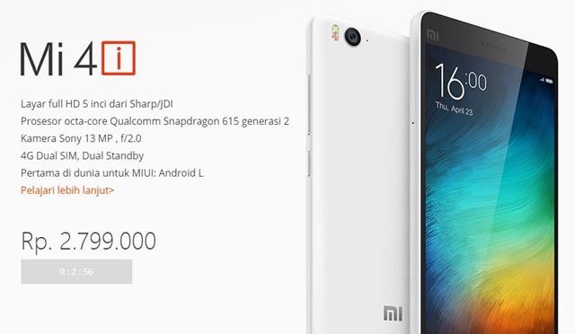 Flash Sale Ponsel 4G Xiaomi Mi 4i