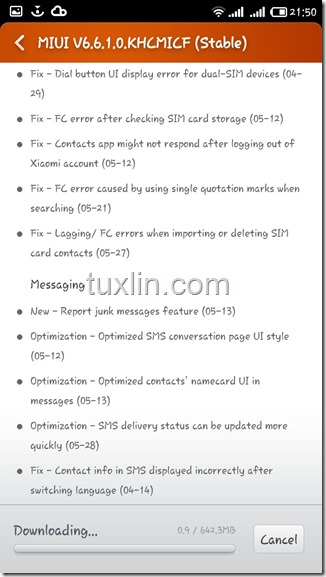 Screenshots update MIUI v6 Android KitKat Redmi 1S Tuxlin Blog05