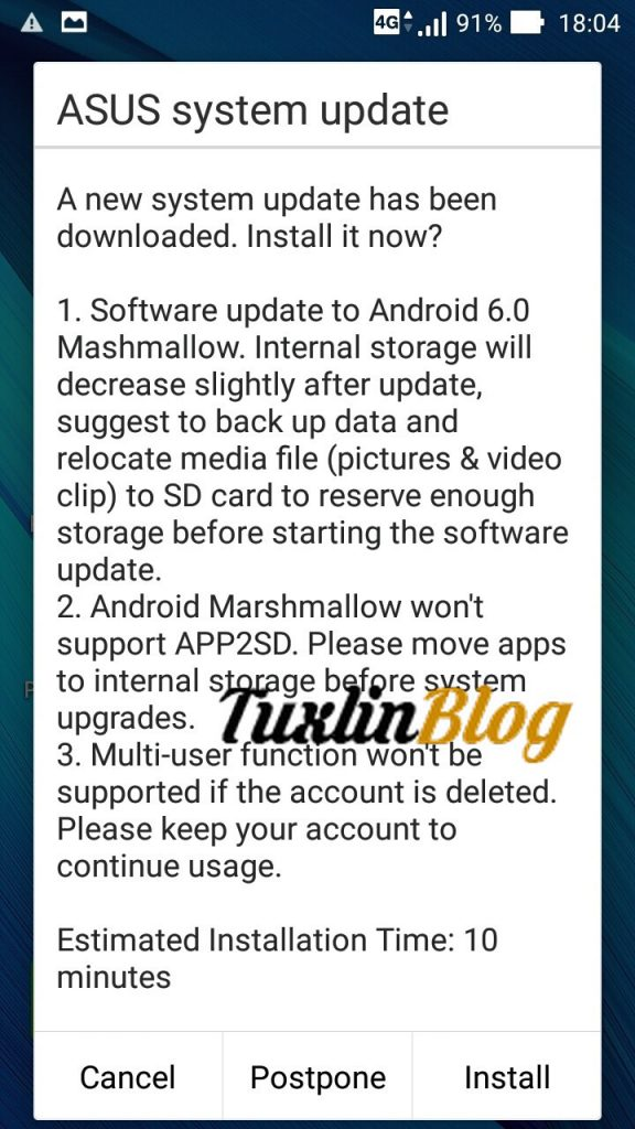 Cara Update Android Marshmallow Asus Zenfone 2 Laser ZE550KL Tuxlin Blog_08