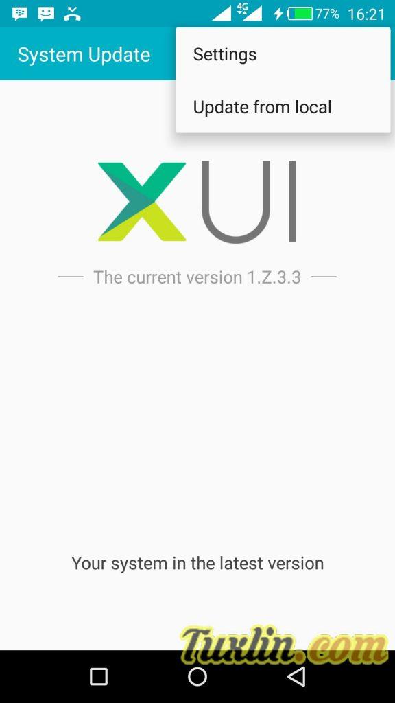 Cara Update XOS