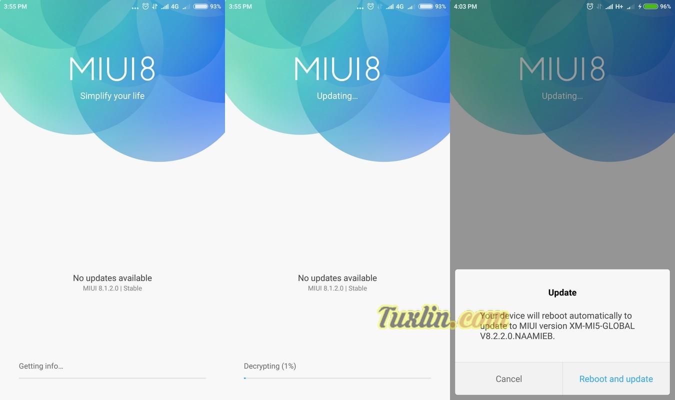 Cara Update Android 7.0 Nougat di Xiaomi Mi5 (MIUI 8.2)