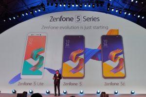 Asus Zenfone 5z, Zenfone 5 Lite & Zenfone 5 Diperkenalkan di MWC 2018