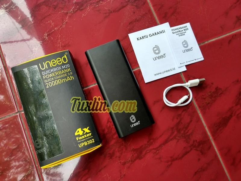 Paket PenjualanUneed QuickBox M20 20.000mAh