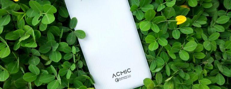 Review Acmic C10Pro 10.000mAh Power Bank dengan Quick Charge 3.0